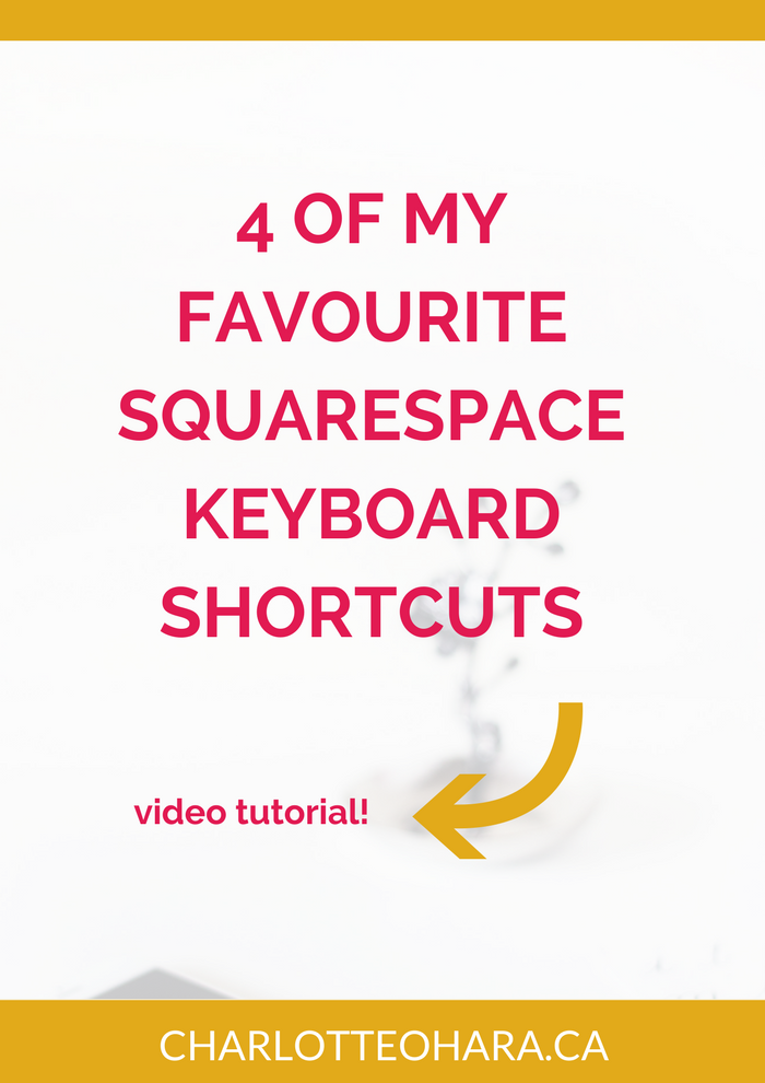 4 Squarespace keyboard shortcuts