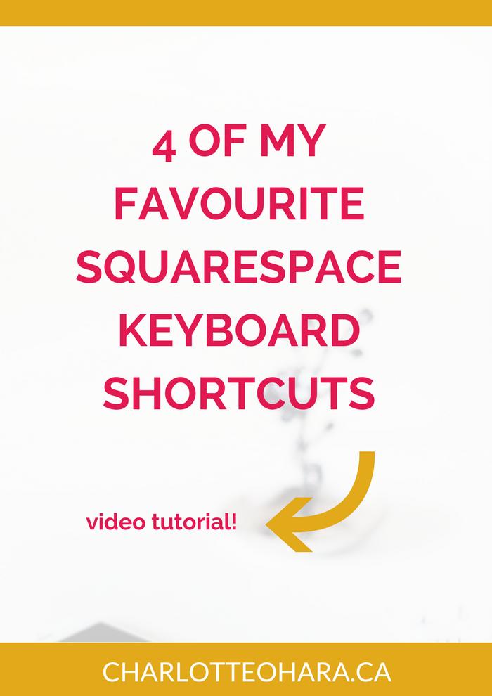 4 Squarespace keyboard shortcuts