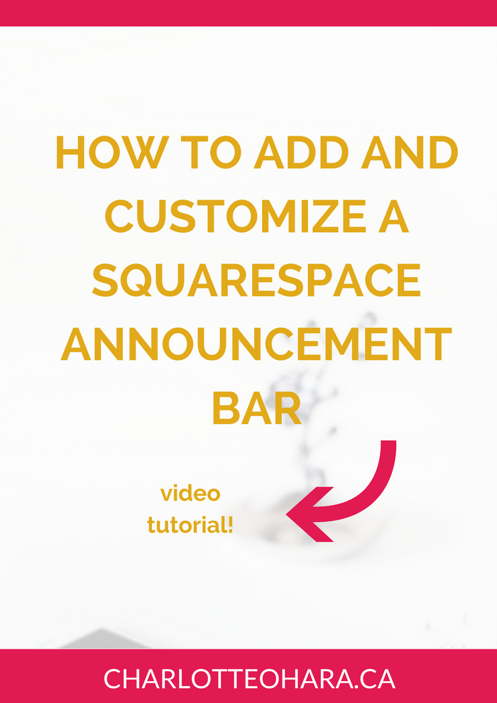 How to add and customize a Squarespace announcement bar