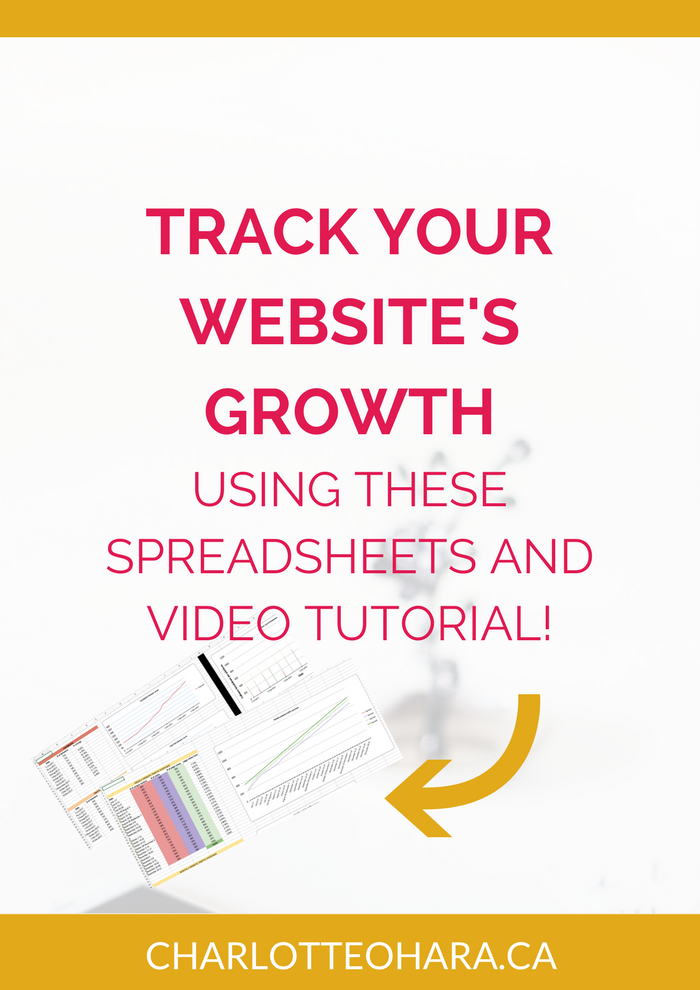 Website growth tracker with spreadsheet template
