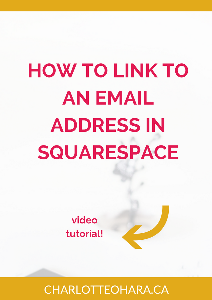 How to link to an email address in Squarespace