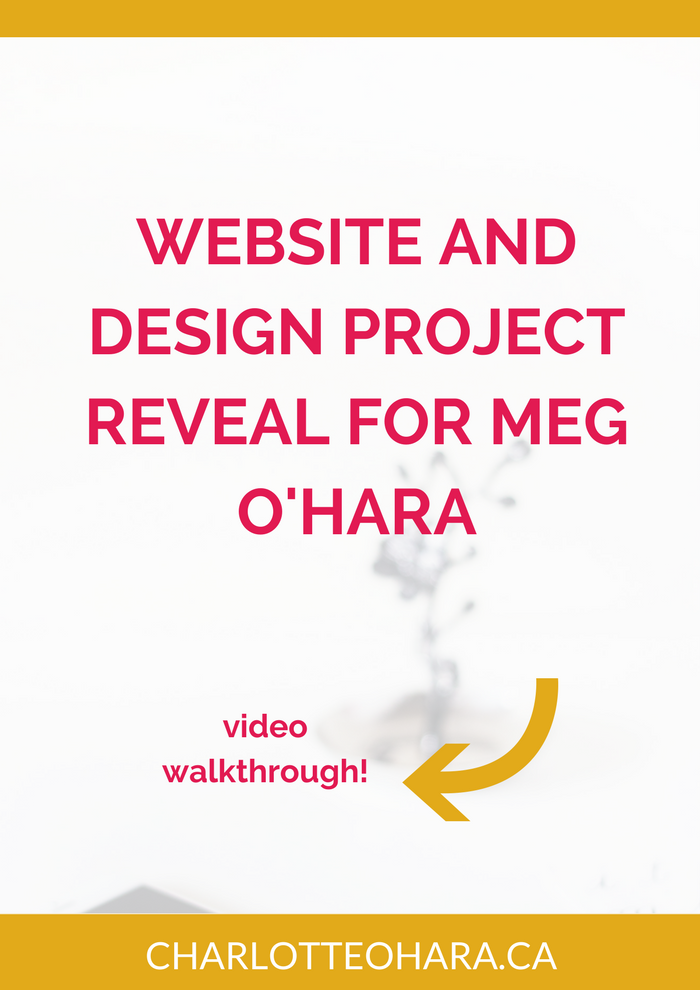 Website and design project reveal | Meg O'Hara