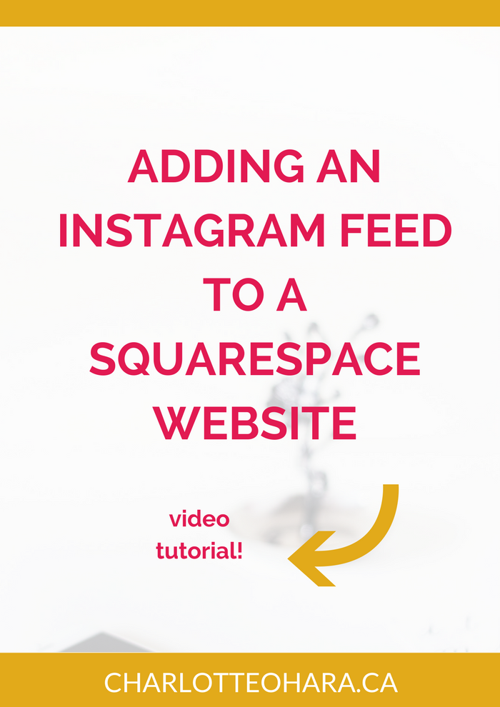 Add Instagram feed to Squarespace website
