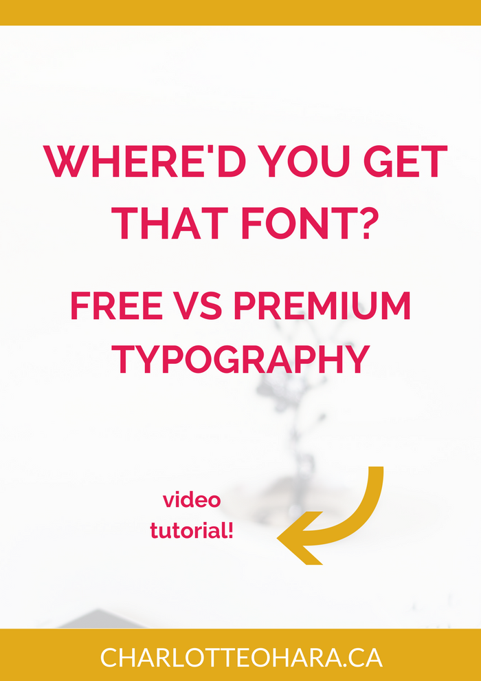 Where'd you get that font | free and paid typography fonts