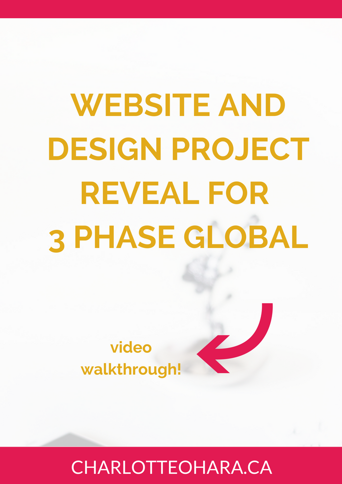 Website and Design reveal for 3 Phase Global