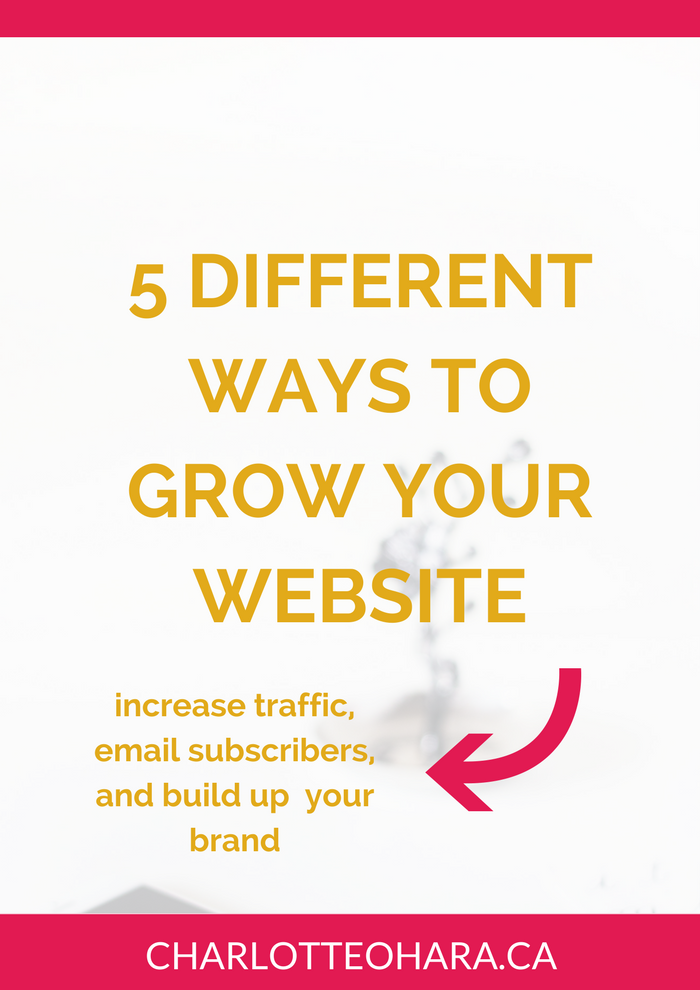 5 different ways to grow your website