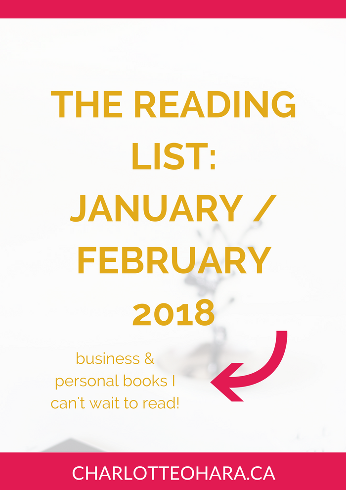 The reading list for January / February 2018 | Charlotte O'Hara