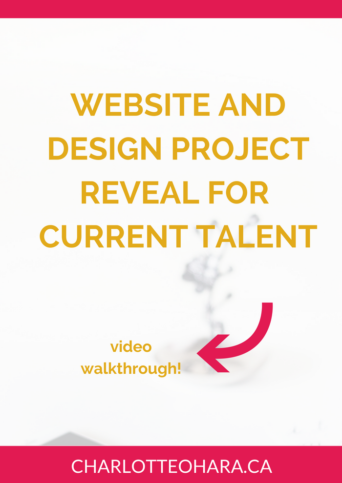 Website Reveal Current Talent