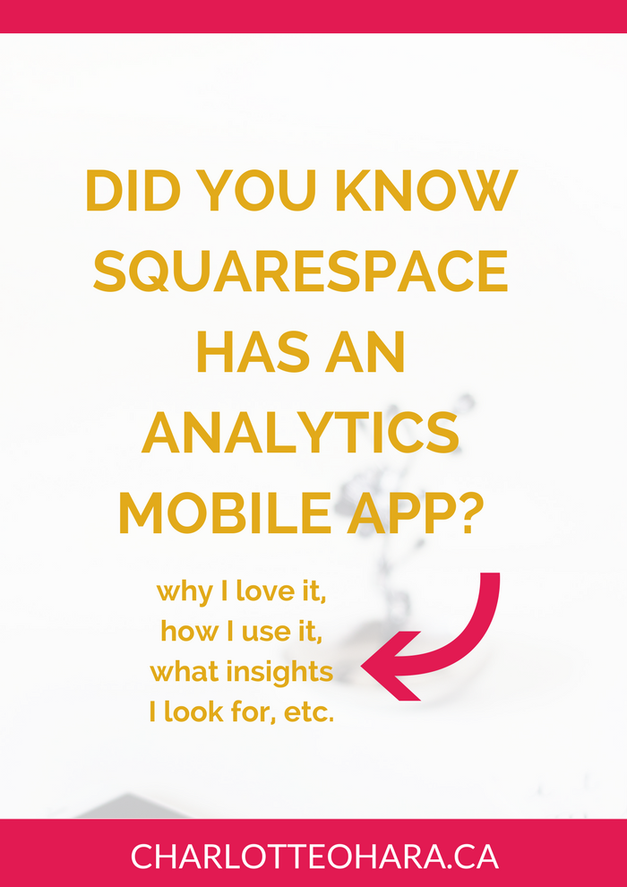 Squarespace analytics mobile app | Squarespace SEO Series