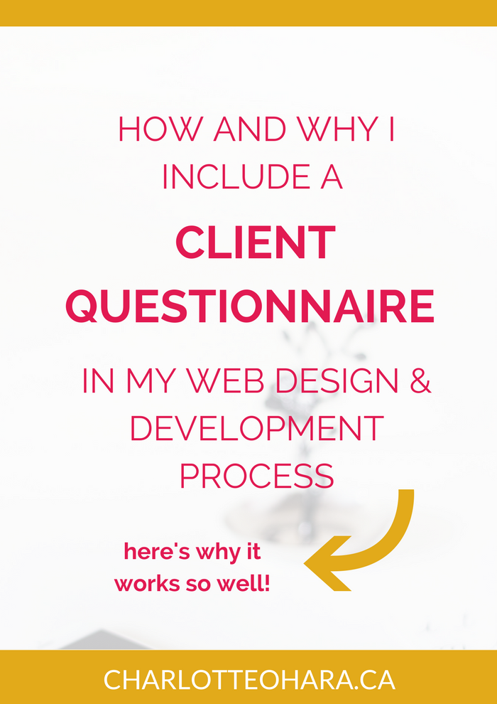 Client Questionnaire for web design development project