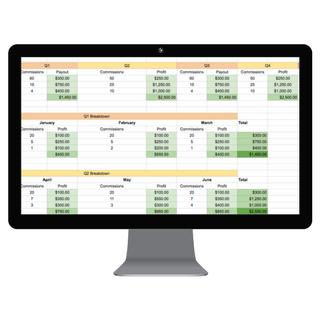 Income Planner Spreadsheets - desktop mockup