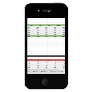 Income Tracker Mockup Mobile