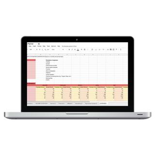 Income Planner Laptop mockup