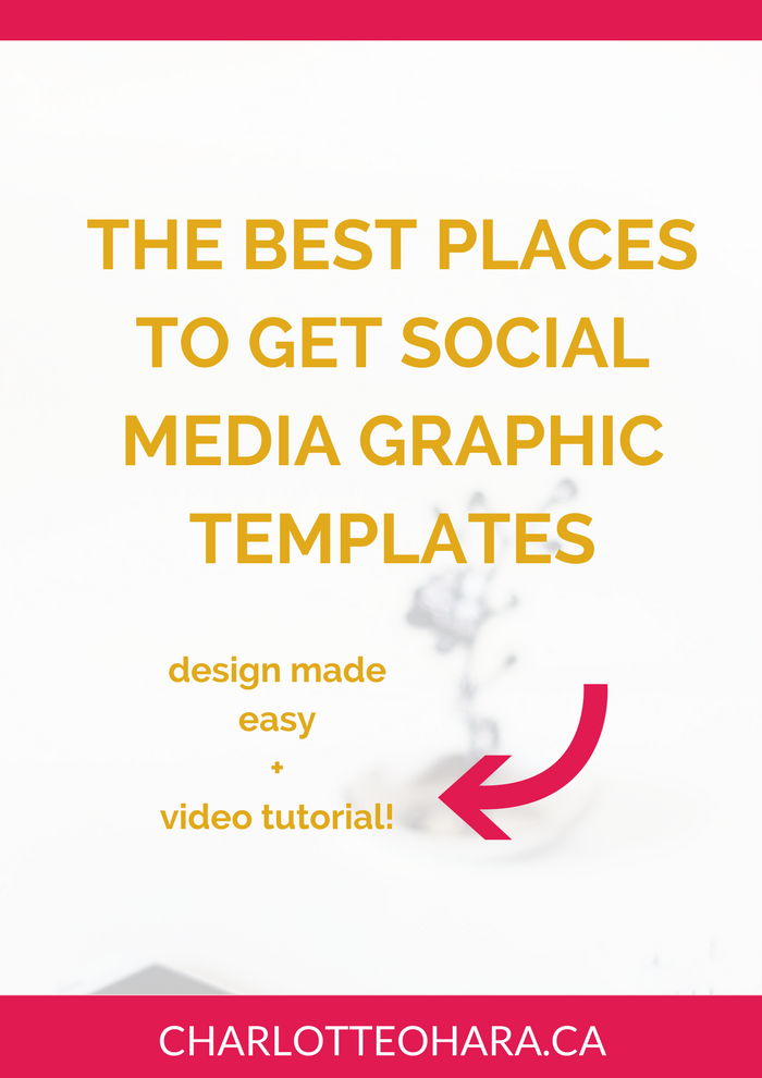 where to get social media graphic templates | design | video tutorial