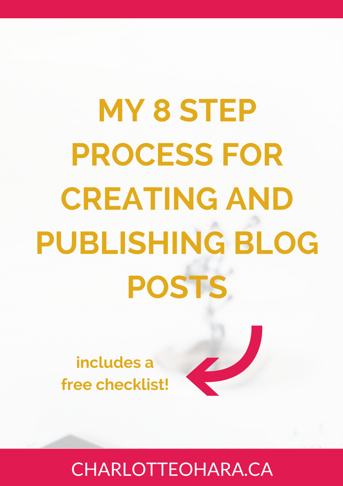 8 step process for creating and publishing blog posts | charlotte o'hara | Squarespace blogging