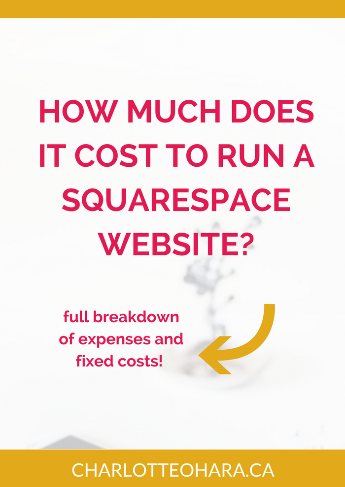 cost to run a squarespace website | squarespace website expenses and cost | track squarespace website expenses
