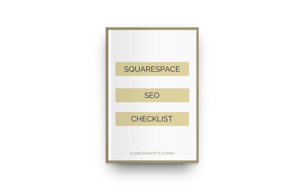 Charlotte O'Hara   Squarespace SEO Checklist mockup