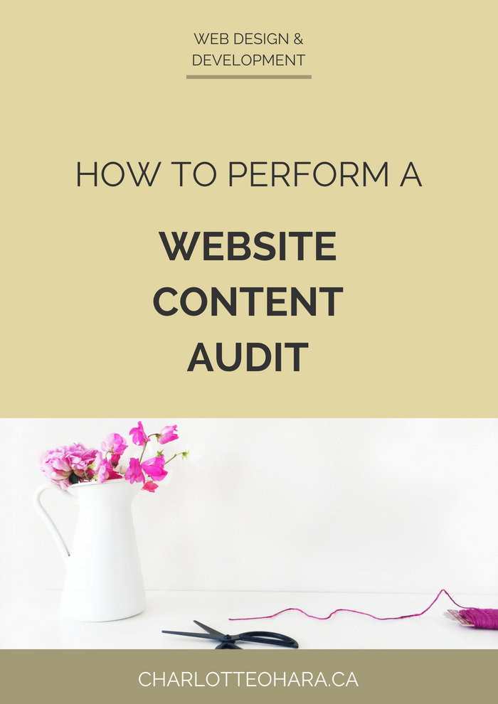Perform a website content audit