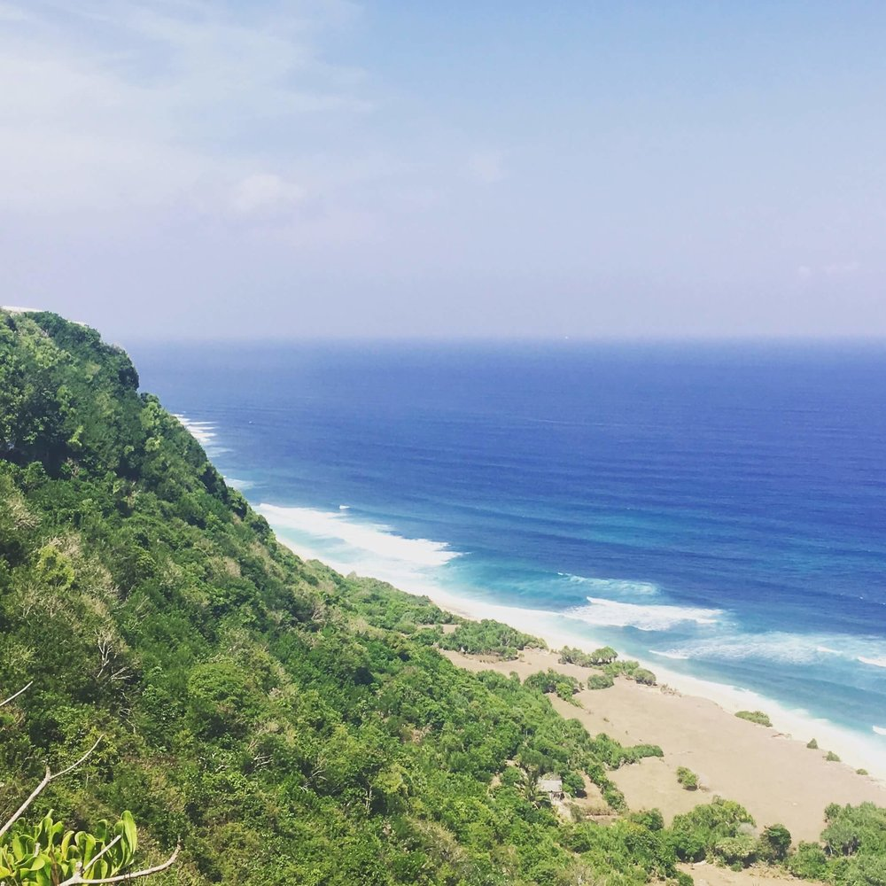 Looking out over Nyang Nyang beach - one of my favourite views on the Bukit peninsula!