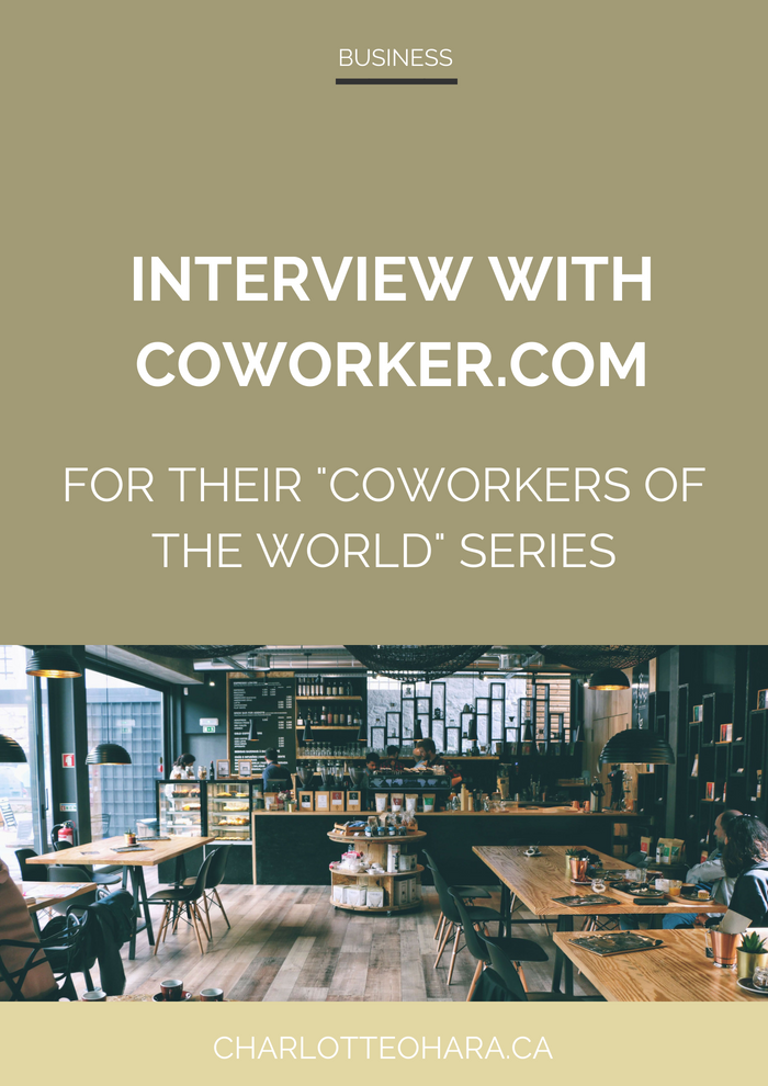 Interview with Coworker.com for Coworkers of the World Series