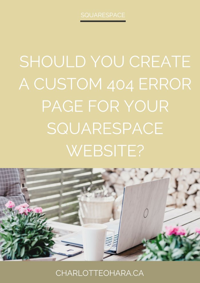 Squarespace custom 404 error page