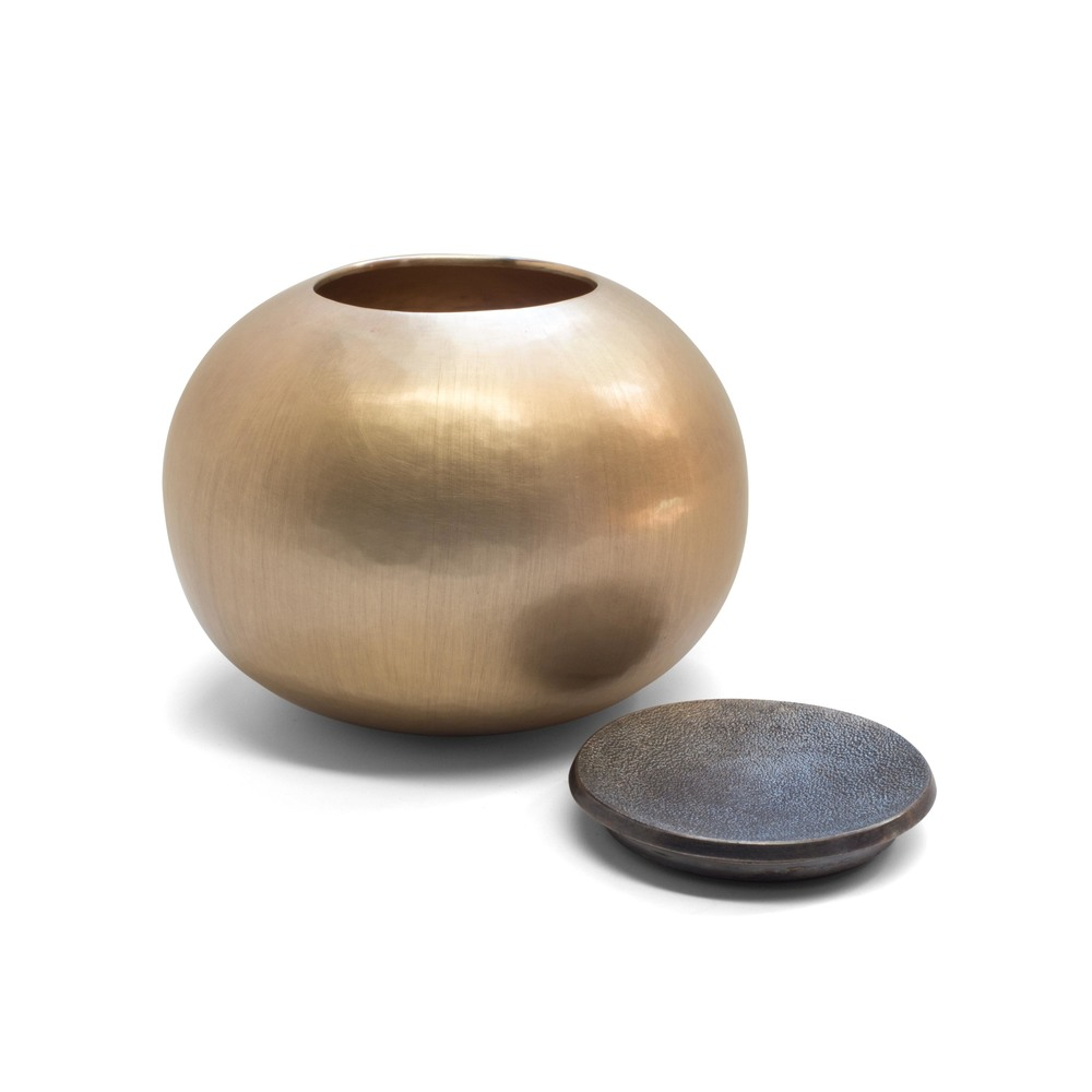 Brass Spherical Vessel with Lid