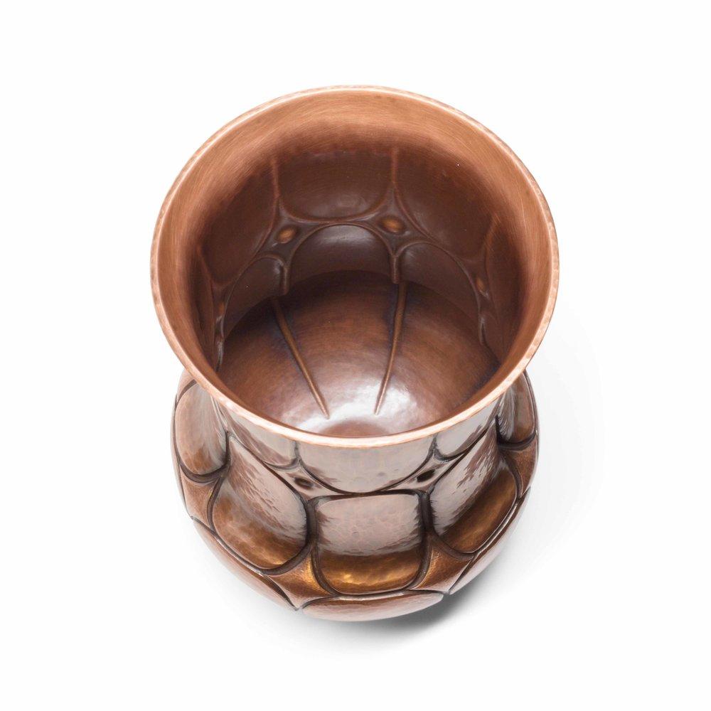Copper Diamond Vase - large