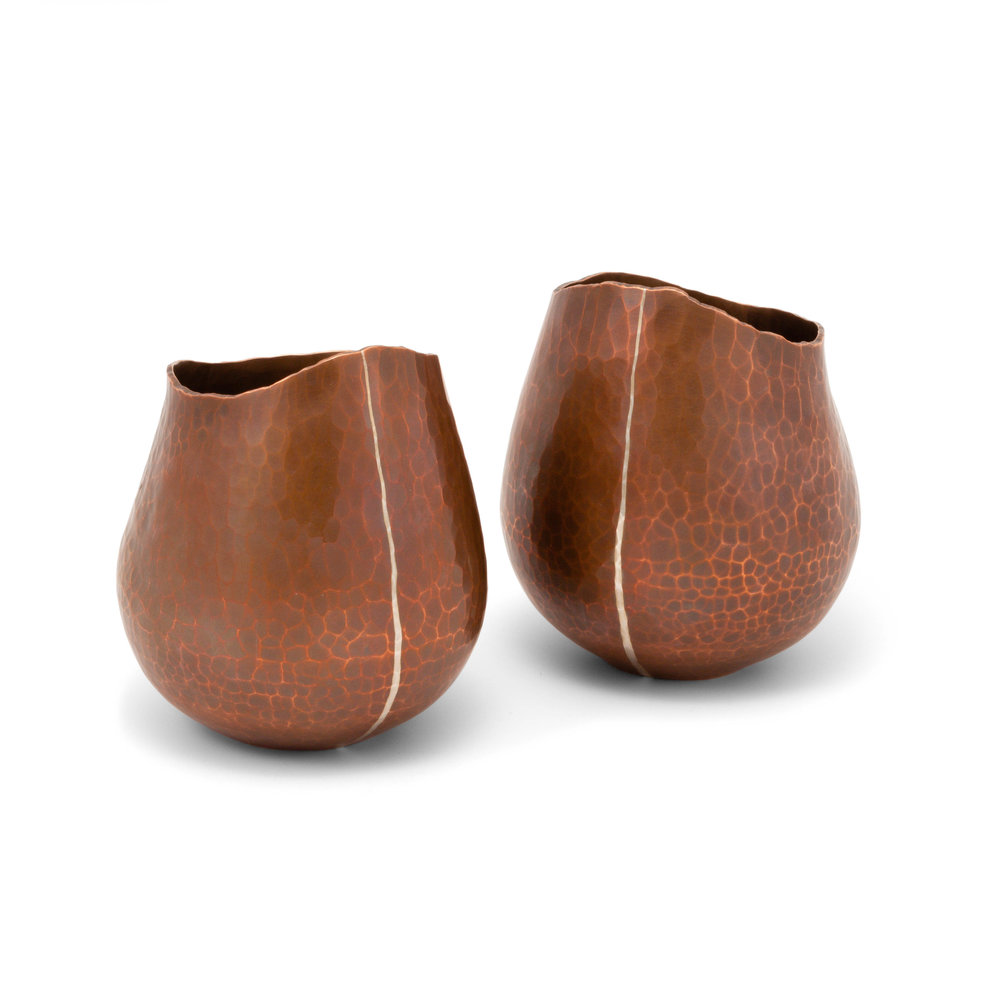 Copper Vessels with Fine Silver Line