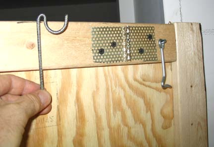 The hangers were bent by hand from heavy wire.