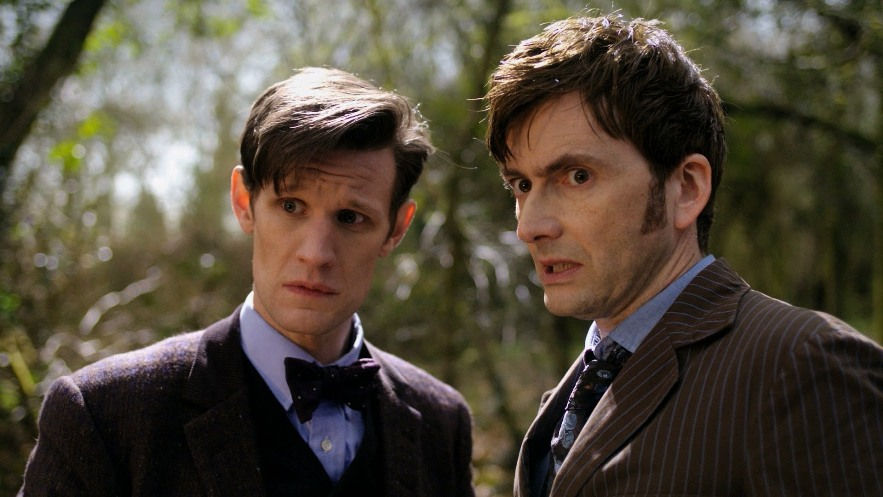 Ten and Eleven in  Day of the Doctor