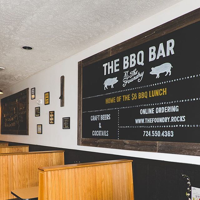 Check out the blog at thefoundry.rocks/blog to see specials and other information about The BBQ Bar!