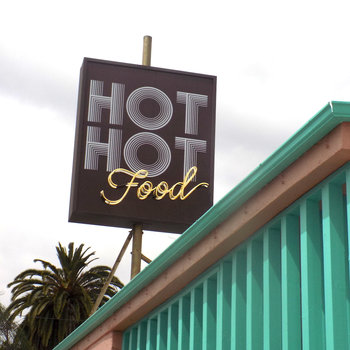 Hot Hot Food's unmissable street sign.