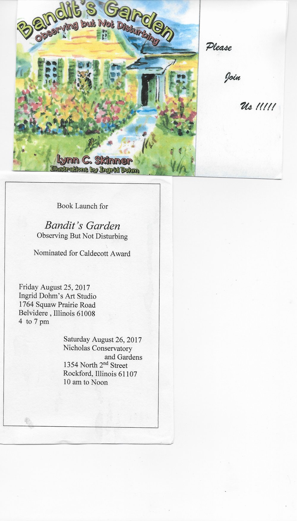 Ingrid is an illustrator for a new children's book, Bandit's Garden,  by Lynn Skinner.jpeg