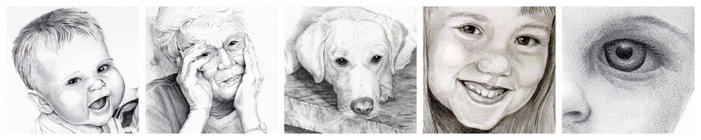 Portraits, Graphite Drawings, Karen Beckwith, Artist
