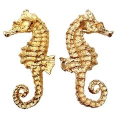 Sea Horse Earrings c.1970       (AVAILABLE FOR PURCHASE)