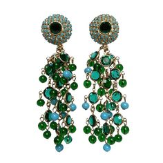 Jeweled chandelier Earrings c.1970        (AVAILABLE FOR PURCHASE)