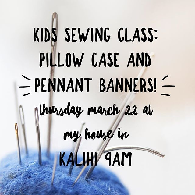 Pm me if you're interested in attending. Kids ages 6 are invited with a parent helper. Ages 7+ can be dropped off. $40 includes everything! See more on my fb page for more info #littlebirdsewingclasses #kidscansew #diyroomdecor #sewingclasses