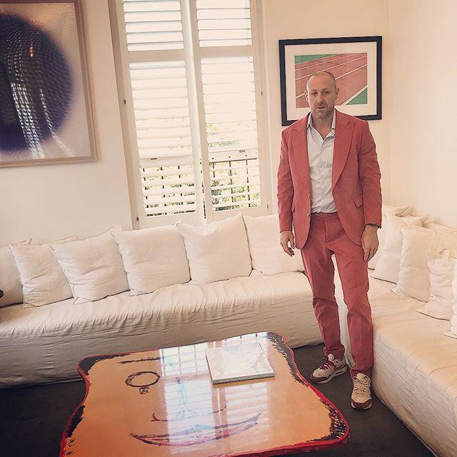 Scotty's scarlet suit! @pjohnsontailors