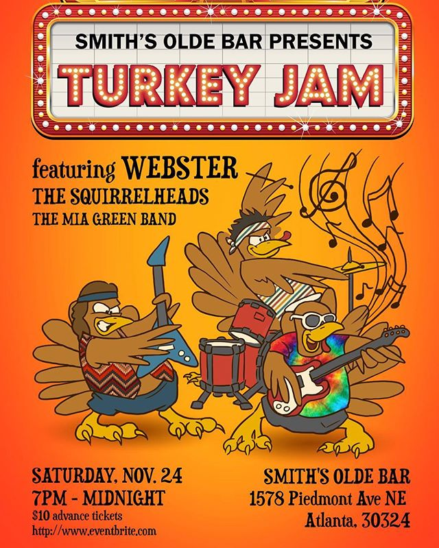 soooo excited to be playing back in Atlanta on Saturday at 7pm with Webster + The Squirrelheads at @smithsoldebar! bring your fam + friends for a fun night! gonna be a great show :) tickets are available at the door and by clicking on the link in my bio