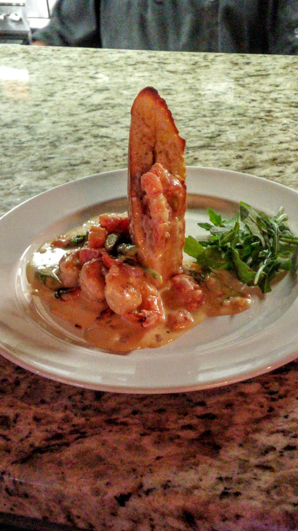 Garlic shrimp apps