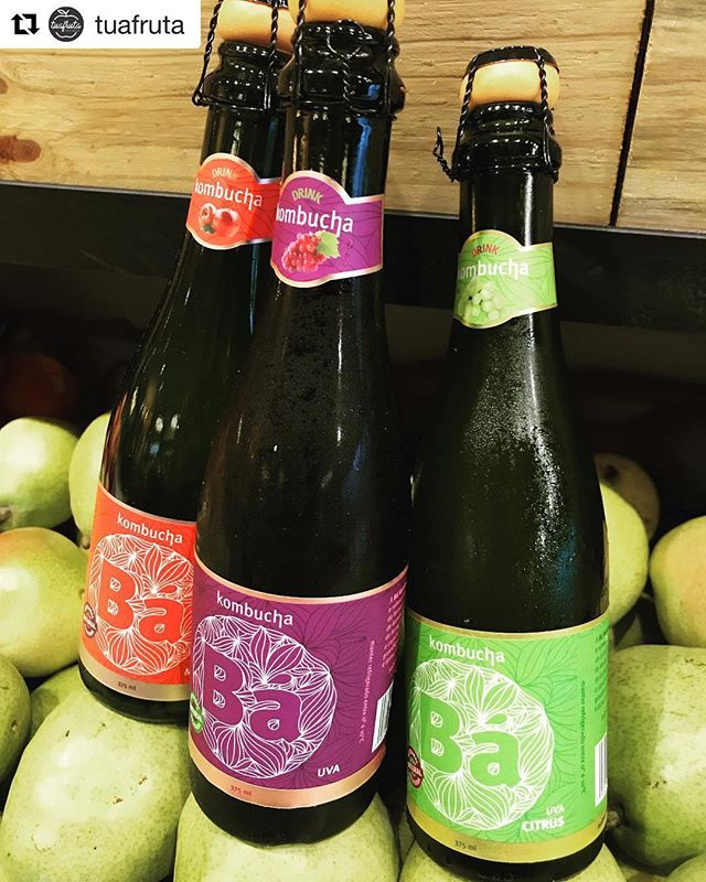 💖🌱🍾 #Repost @tuafruta with @get_repost ・・・ A Tua Fruta agora tem a @bakombucha  Se o gosto era de espumante a garrafa agora também é. #tuafruta