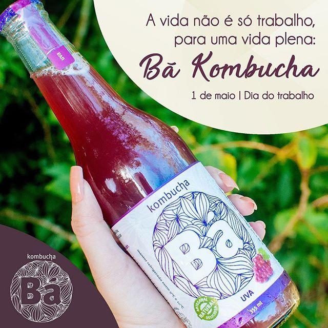 Para uma vida plena é preciso manter o equilíbrio. Aproveite o dia de folga, esqueça o trabalho e relaxe bebendo uma Bá Kombucha!  #DiaDoTrabalho #BáKombucha #Kombucha