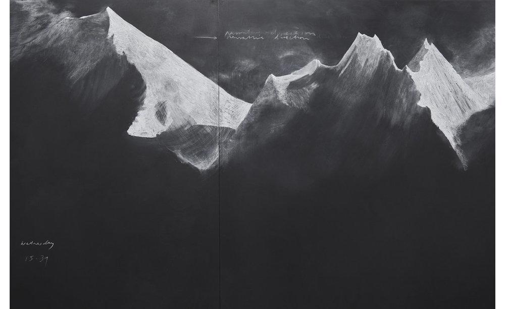 Tacita Dean, Fatigues  (E),2012, Chalk on board