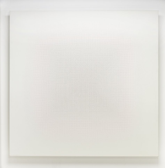 Robert Irwin. Untitled, 1966. Oil dots on canvas. (Image: Cristie's)