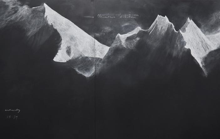 Tacita Dean. Fatigues (E) (detail), 2012. Chalk on Board. (Image: Marian Goodman Gallery)
