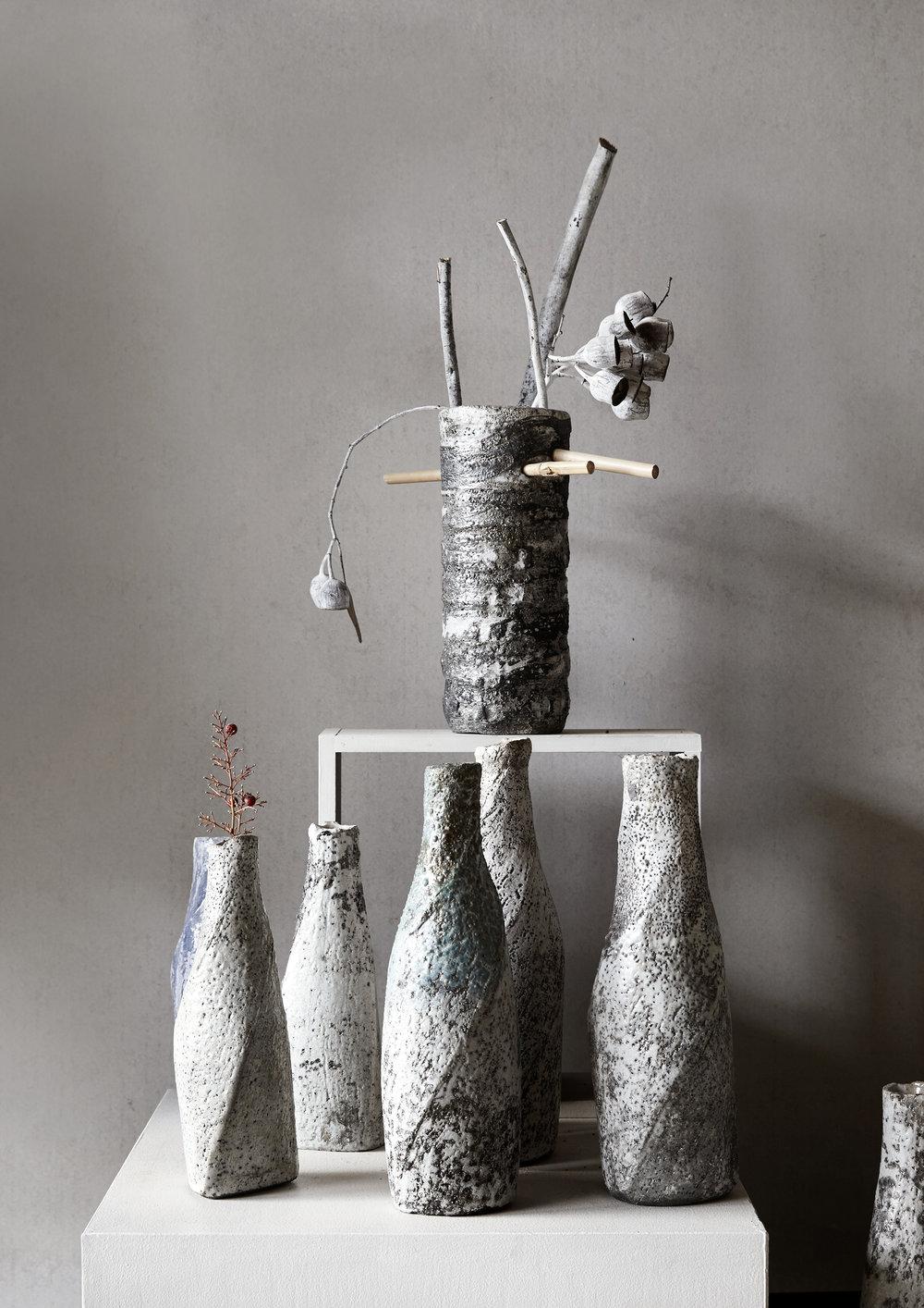 Japanese Raku-fired vases #beautiful