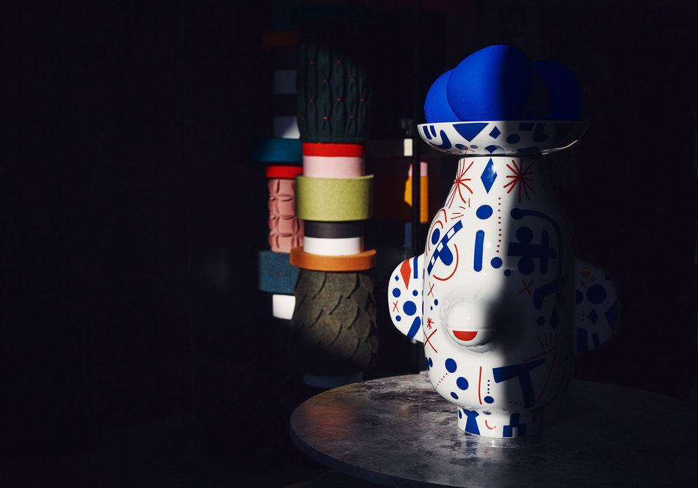 Grimace vase by Jaime Hayon from Folkifunki Photographer: Jonathon Griggs