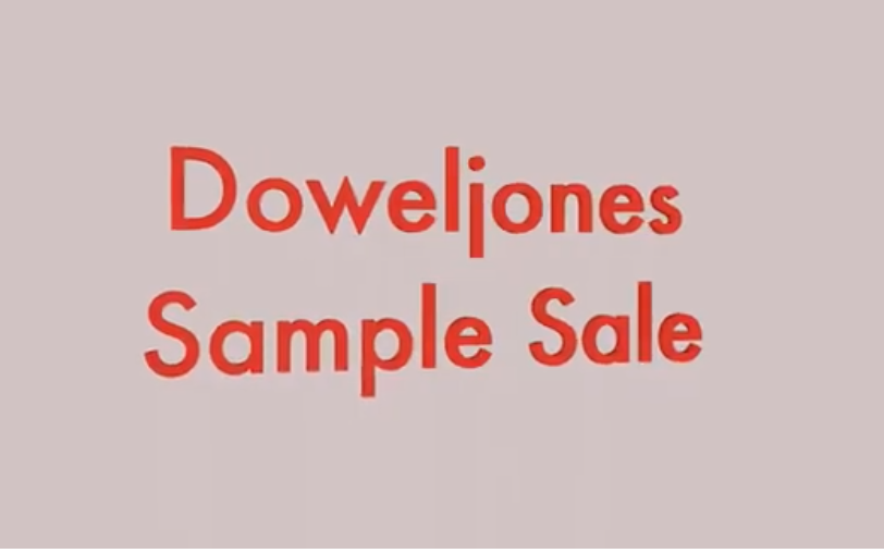 DOWEL JONES SAMPLE SALE