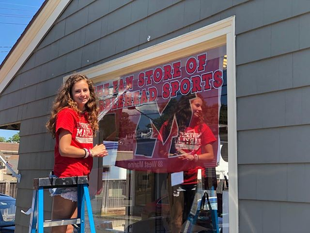 We're not planning on going pro but Cara and I are pretty proud of the new signage we made!