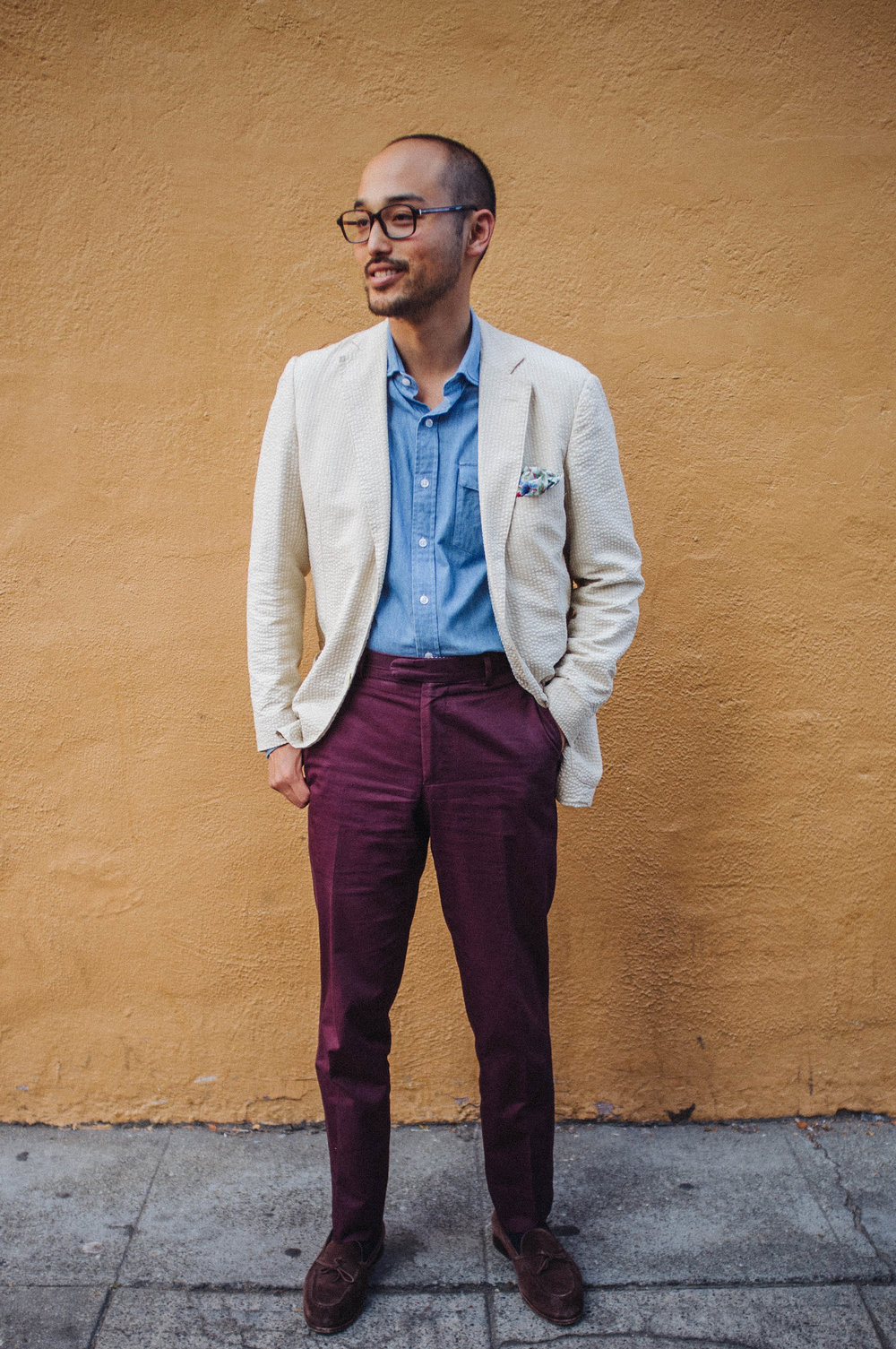 Sports Coat - Gant By Michael Bastian | Shirt - Proper Cloth | Pocket Square - Vintage | Chinos - Epaulet | Shoes - Carmina Shoemaker